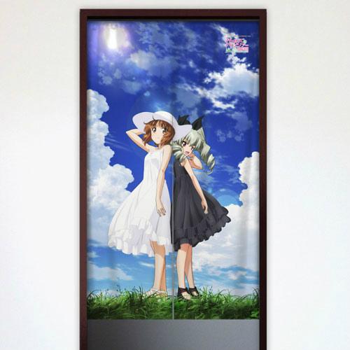のれん(西住みほ&アンチョビ) (C)GIRLS und PANZER Film Projekt