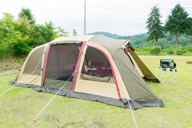 常設テントサイト(2ルームシェルター) OGAWA Velero5(5人用) 