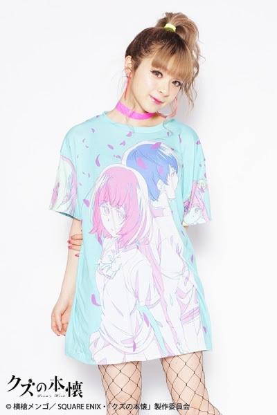 「クズの本懐」×galaxxxyコラボレーションTシャツ(ブルー)