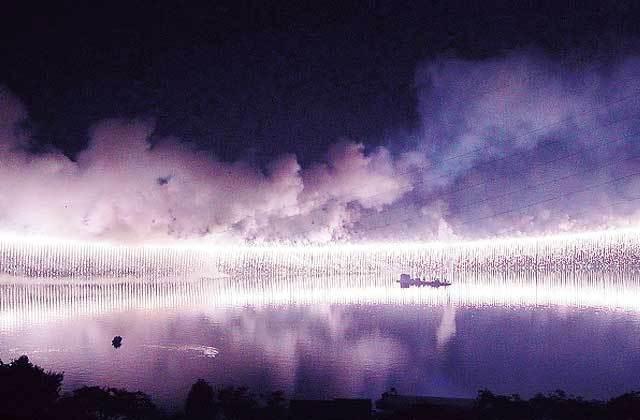 相模湖 湖上 祭