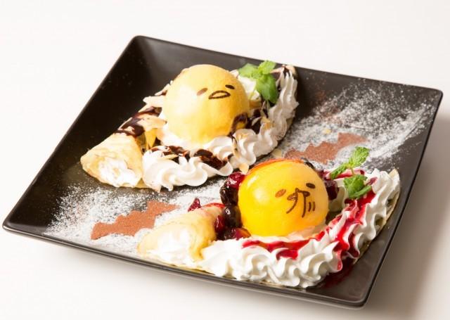 大阪「ぐでたまカフェ」でハロウィン限定メニュー登場、かぼちゃアイスで再現されたぐでたまのスイーツ