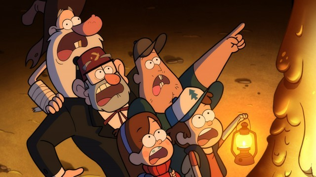 OLD MAN MCGUCKET, GRUNKLE STAN, MABEL, SOOS, DIPPER