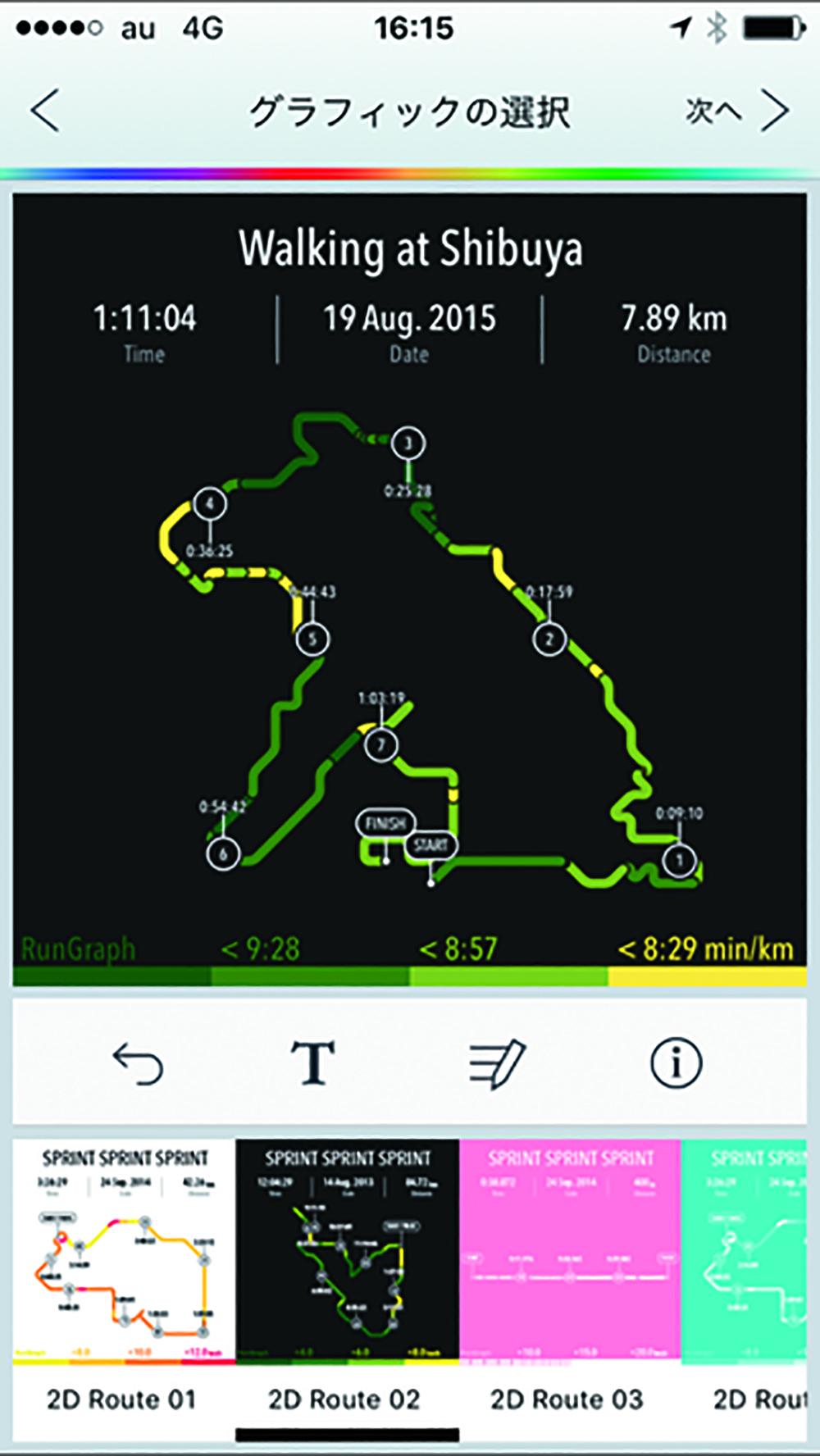 RunGraph ウォーキング・ランニングGPSグラフィックDESIGN