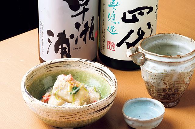 和食さくらい(学芸大学) 海老芋かにあんかけ(冬限定) 1200円 炊いた海老芋を揚げたものにズワイガニを混ぜたあんをかける。滑らかな食感が楽しい。