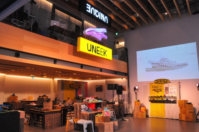 『UNEEK』発表会/『KEEN UNEEK STORE at 代官山 T-SITE』店内