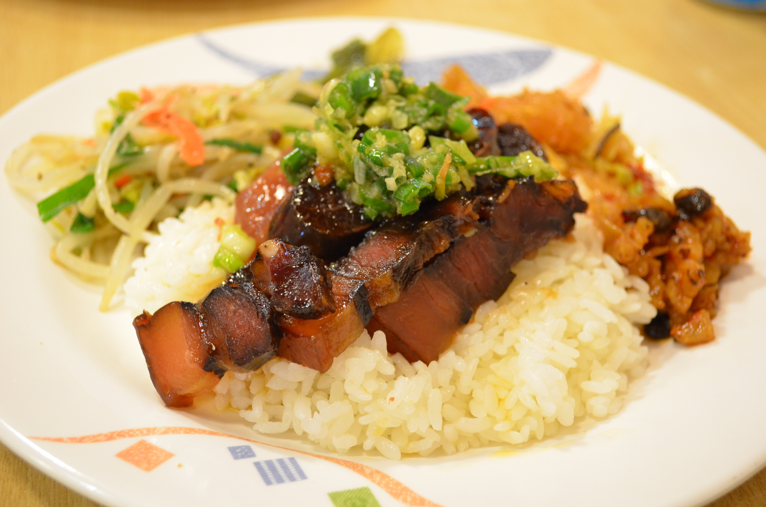 豚バラローストと鴨肉と鶏肉のせ ワンプレート