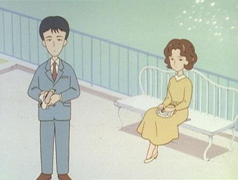 第62話『口笛が聞こえる』(1) 若い頃のひろしとすみれ。 © さくらプロダクション / 日本アニメーション