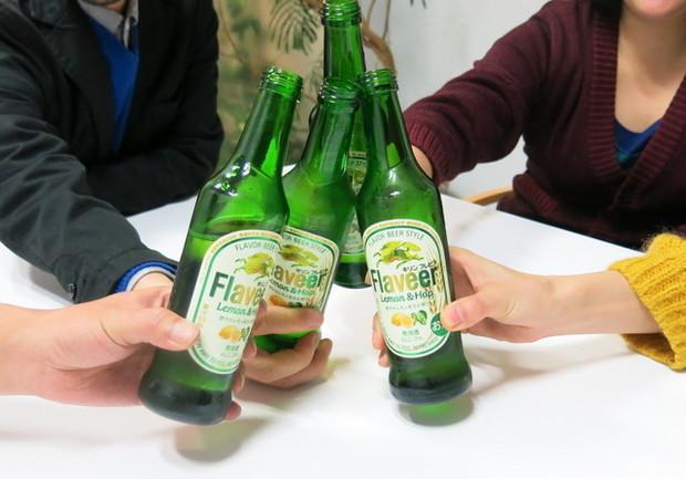 瓶ビール乾杯